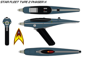 Star fleet Type 2 phaser X by bagera3005