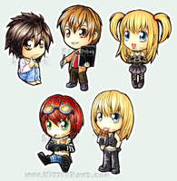 Death Note Chibified by ButtercupBabyPPG