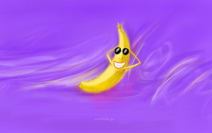 Funny banana Wallpaper (free) by salahps