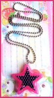 Pink Star Necklace by cherryboop