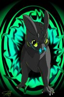 Twisted Toothless by InspiredDragons