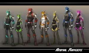 :WWP: Animal Rangers line up by Tyshea