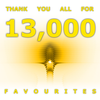 Thanks For 13,000 Favourites! by CMWVisualArts
