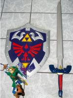 Master Sword Hylian Shield by alsquall