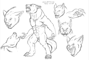Werewolf Dominic Concept Art by LockStockCreation
