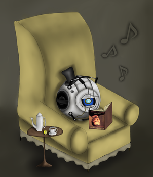 Wheatley's not just a moron... by Mannequin--Massacre