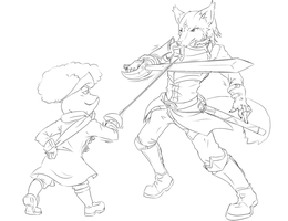 Livestream Sketch Comm: Duel by Fly-Sky-High
