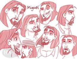 Miguel Sketches by HArt1