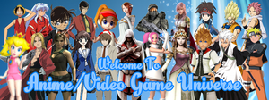 Anime/Video Game Universe Facebook Cover by RavenVillanuevaT2P