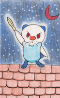 Oshawott of the Red Moon by Latee-Hatori