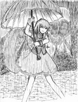 Kogasa, The Rain Explorer! by leafprojector