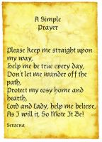 A Simple Prayer by Seraena