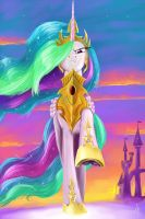 Beware, enemies of Equestria! (Celestia) by Nightshroud