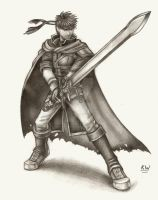 Ike Pencil Drawing 2 by Spectrum-VII