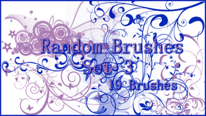 GIMP Random Brushes Set 3 by Illyera