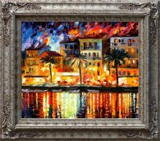 Italy framed by Leonid Afremov by Leonidafremov