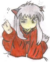 Itchy InuYasha by WickedTurkGirl