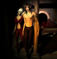 Elven couple by LunarBerry
