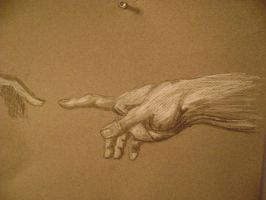 Michelangelo's hand of god by vegas9879