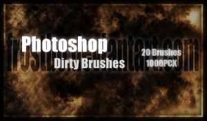 Dirty Brushes Photoshop by FrostBo