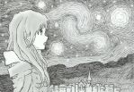 Looking at the Starry Night by kilroyart