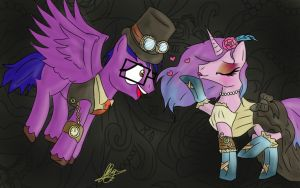 Steampunk fancy dress by Frogmellamogz