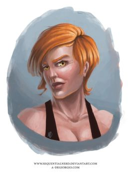Character Bust - Niki by sequentialnerd