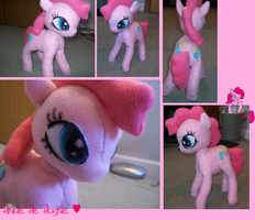 MLP pinkie pie plushie by cupcake-princess00
