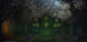 A Spooky House by Narandel