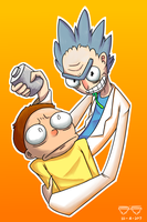 Rick And Morty by JustASolo
