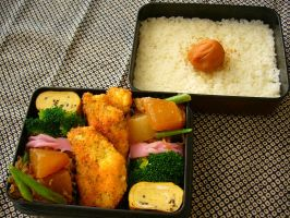 fried chicken bento by japanbento