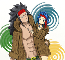 Gajeel X Levy ~~ Fur by Malia-Konabel