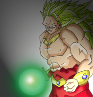 Lssj3 broly colored by skyknight17