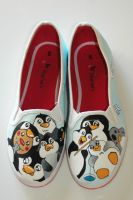 penguin shoes by felixartistixcouk