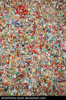 Pike Place Gum Wall by Stickfishies-Stock