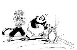 KUNG FU PANDA MUSCLE GROWTH - Commission 1 by Manthomex