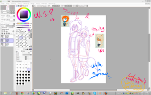 Suzzie and Becky in Walk in Snow W.I.P by Lali-the-Bunny
