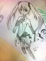 Miku append on MahJong Paper by silkhat