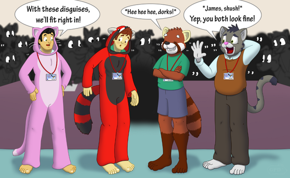 Furries and Wannabe-Furries (COLOR) by GuineaPigDan