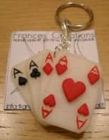 Four of a Kind - poker keyring by ApoAddicted