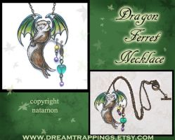 SOLD Dragon Ferret Necklace by natamon