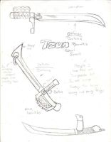 Tzuns weapons by Blucaracal