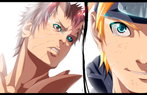 Naruto and Obito by iAwessome