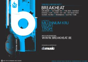 Breakheat flyer - Front by JoyraideR