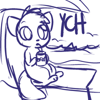 Relaxing By The Beach Chibi YCH CLOSED by SquidPup