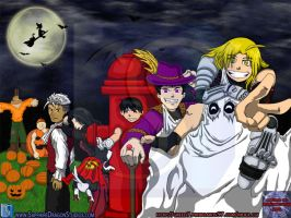 FMA Halloween Desktop by neo-dragon