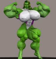 She-Hulk...Bulking 3D by Angel-Uriel15
