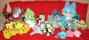 My Pokemon Plushie Collection by nefhithiel