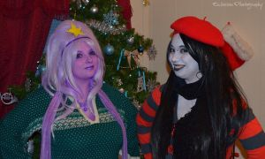 Cosplay - Happy Holidays Marceline and LSP! by SammehChu
