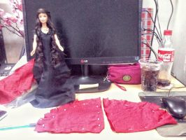 Barbie Arwen Undomial dress no pattern by seawaterwitch